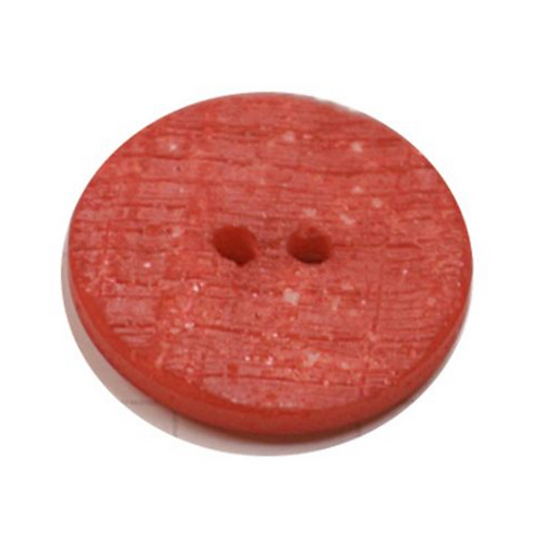 Acrylic Button 2 Hole Textured Speckle 12mm Red
