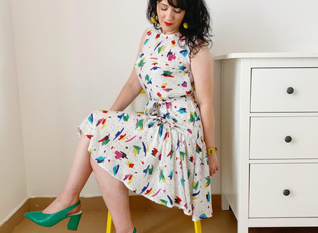A swooshy dress in Rayon | A Guest blog post by Lou