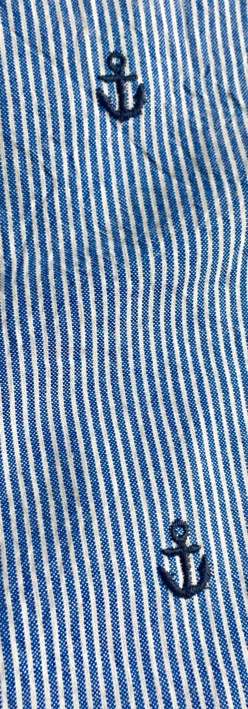 Seersucker - Anchor Blue