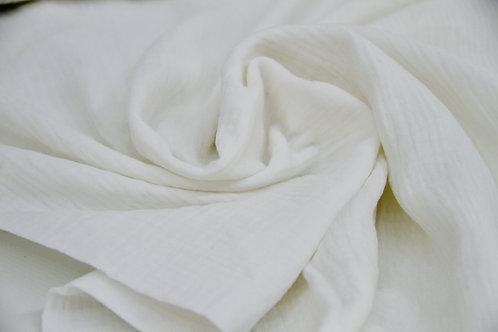 Cotton Double Gauze - Ivory - 1/2 metre