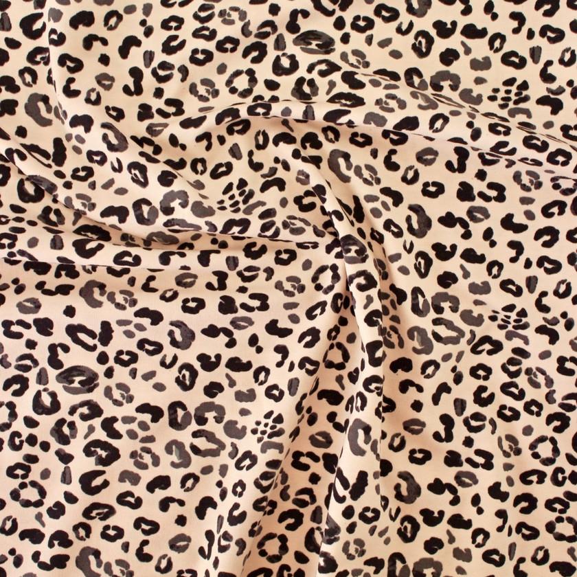 Cotton Jersey - Blush Pink Leopard