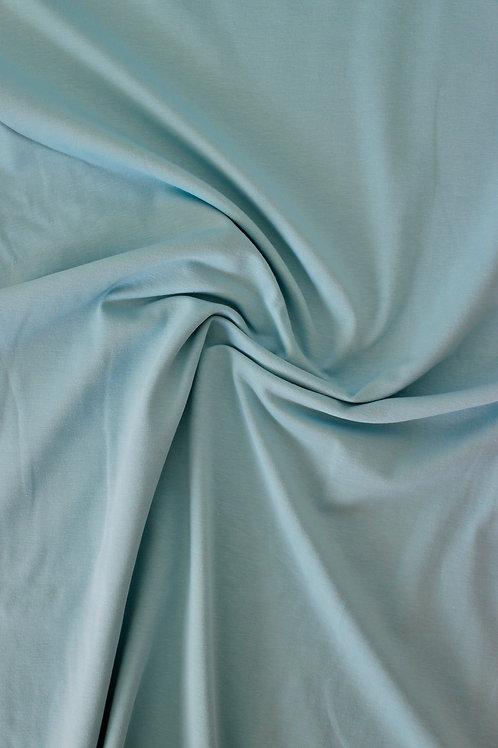 END OF BOLT 0.6m Cotton Jersey - Pale Teal