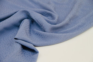 Viscose - Textured Dots Blue