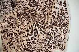 2.5m Cotton Linen - Blush Pink Leopard