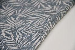 Viscose Linen - Palm Leaves Duckegg - 1/2 metre
