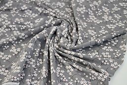 1m Modal Jersey - Grey Floral