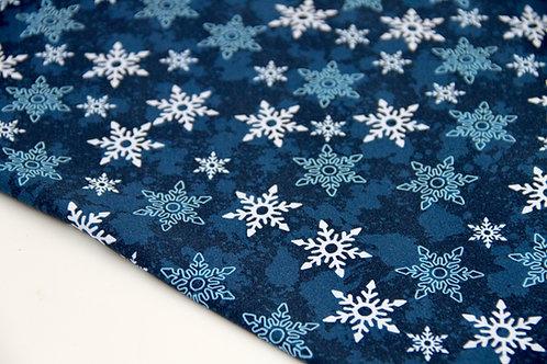 Brushed Back Sweatshirt - Snowflake - 1/2 metre