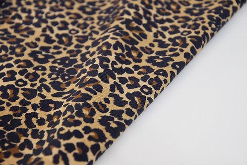 Cotton Jersey - Leopard Brown - 1/2 metre