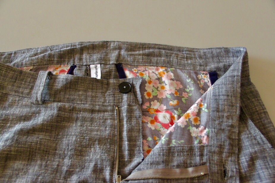 I used this fabric for a dress and had enough left over to make pocket linings for a pair of shorts.