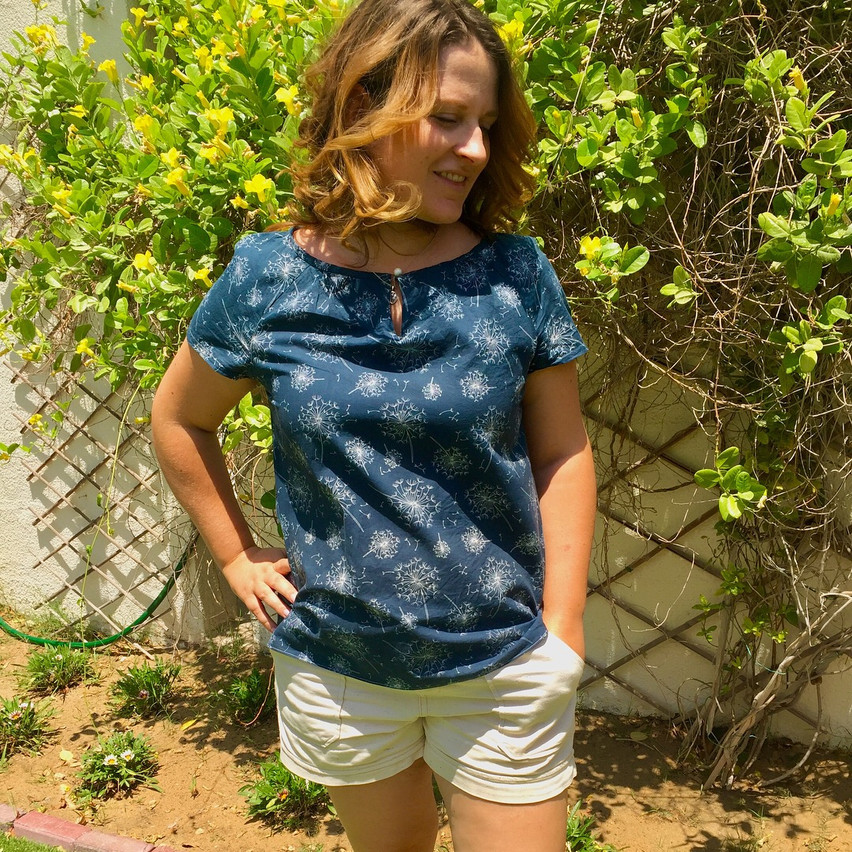 Lulu Top (refashioned from Dress)