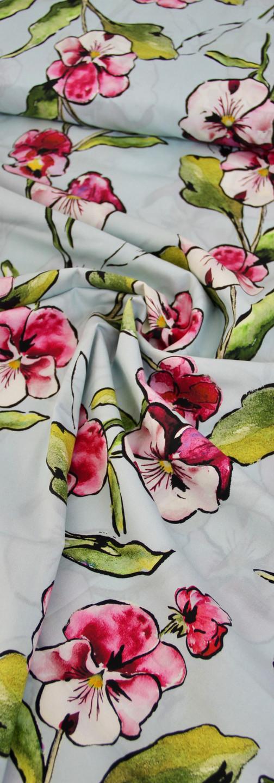 Cotton Lawn - Aqua Orchid