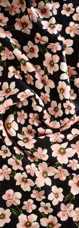 Rayon - Soft Blossom Navy