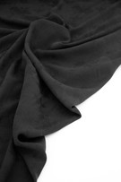 Viscose - Textured Floral Blac