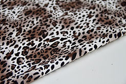 Stretch Cotton - Leopard Beige - 1/2 metre