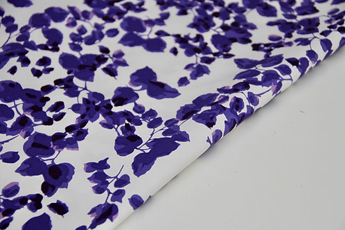 Stretch Cotton - Jardin Royal Violet - 1/2 metre