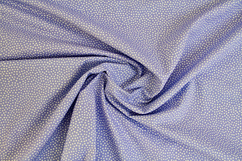Cotton Lawn - All about the dots Periwinkle Blue - 1/2 metre