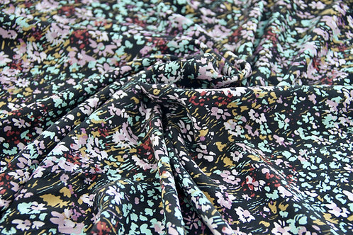 Rayon Crepe - Colourful Bloom - 1/2 metre