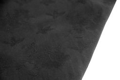 Viscose - Textured Floral Black - 1/2 metre