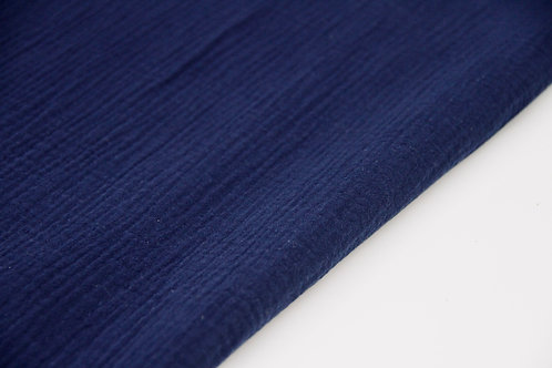 Cotton Double Gauze - Navy - 1/2 metre