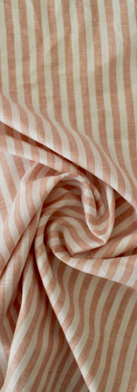 Linen Rayon - Blush Pink Stripe
