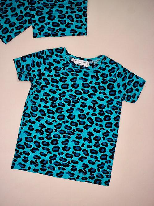 Elicia Tee - Roar & Purr Turquoise