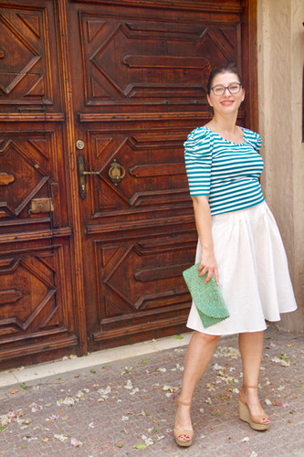 Linen is a great first dressmaking fabric.