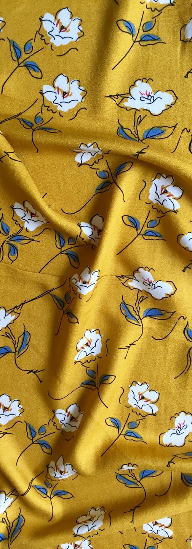 Rayon Crepe - Mustard Blossom
