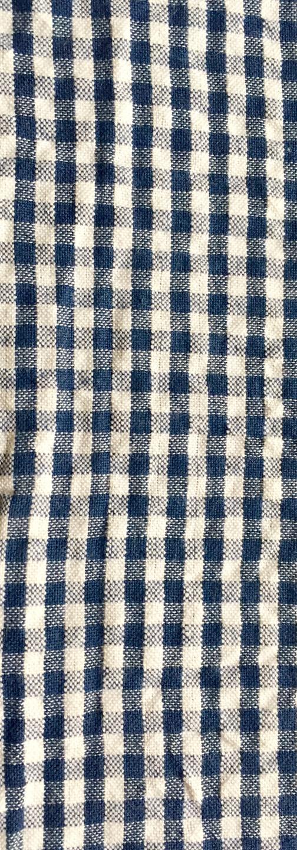 Seersucker - 3mm Gingham Blue