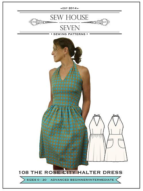 Sew House Seven - Rose City Halter Dress