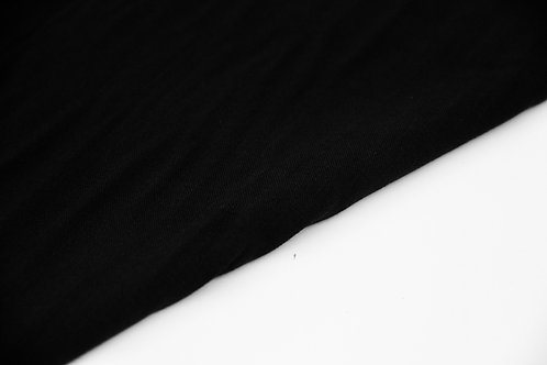 Viscose - Linen Look Black - 1/2 metre