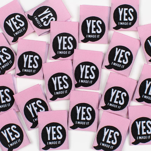 """""""YES I MADE IT"""" Woven Labels 8 Pack"""