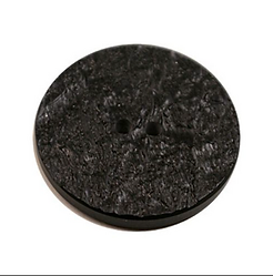 Acrylic Button 2 Hole Metallic 14mm Black / Silver