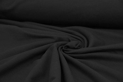 Brushed Back Sweatshirt - Black - 1/2 metre