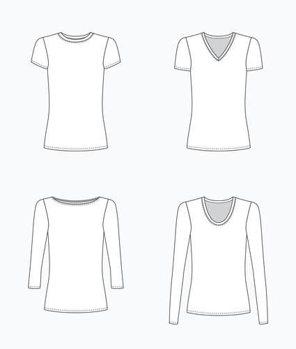 Lark Tee top pattern by Grainline Studio