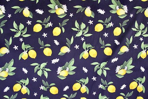Stretch Cotton - When life gives you lemons - 1/2 metre