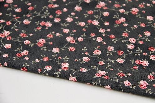 Brushed Back Sweatshirt - Roses - 1/2 metre