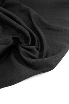 Linen Viscose - Jet Black