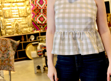 A cropped top with ruffles in crisp cotton | A Guest blog post by Alyssa