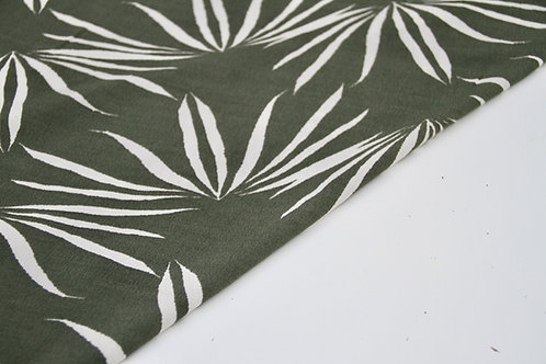 Rayon Crepe - Oasis Palm Olive - 1/2 metre