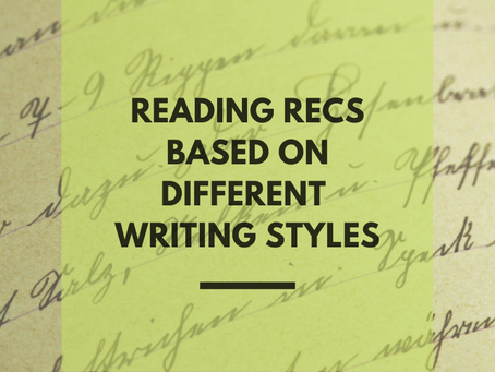 Reading Recs Based On Different Writing Styles