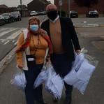 Distribution de masques à Quaregnon: 11 mai 2020