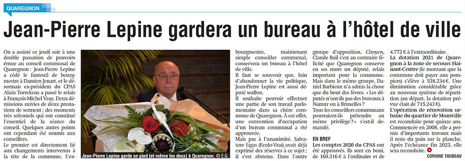 Article - Jean-Pierre Lepine gardera un