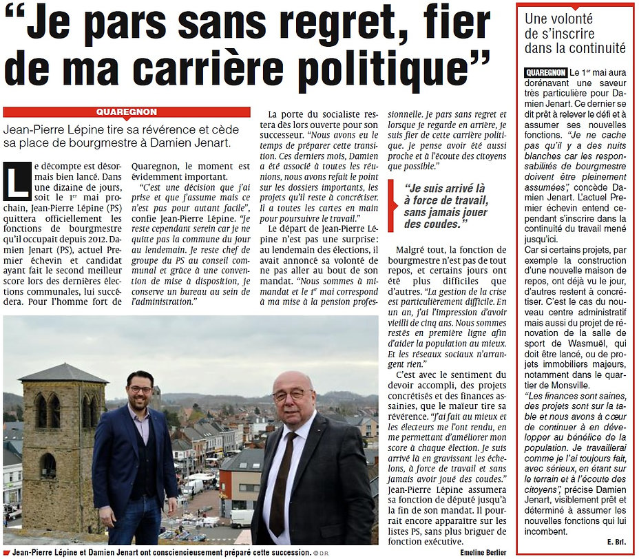 Je pars sans regret - article la provinc