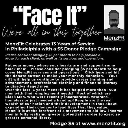 MenzFit $5 Pledge Campaign