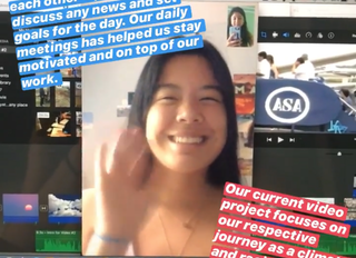 Creating Videos, Becoming Politically Active and Adapting to Remote Learning