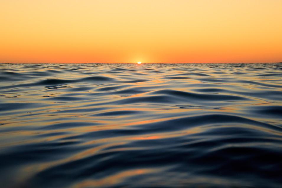 sunset water ripples