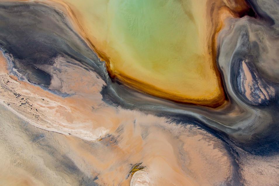 sandy salt water