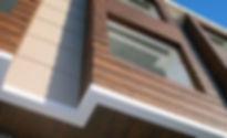 декорация от дърво дървени панели фасадни панели дървена фасада