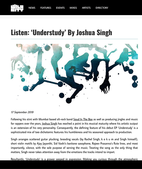 Joshua Singh , music producer , song-writer, singer. Best in new music. New music India , indie musi