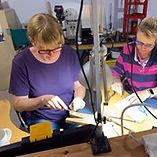 Weekly silversmithing workshop in progress
